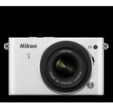 Nikon 1 J3 Kit White + 10-30mm VR&red&silver